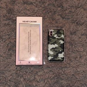 Velvet Caviar Green Camo iPhone X Case